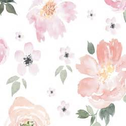 floral wallpaper for walls watercolor in the nursery project nursery