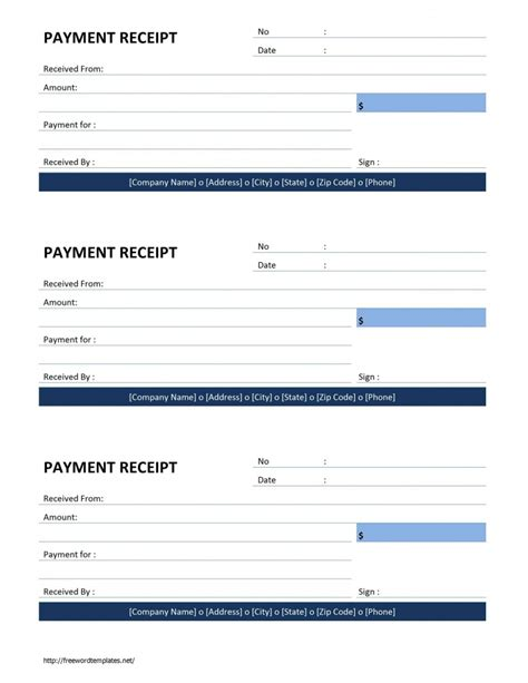 receipt template microsoft word payment receipt template