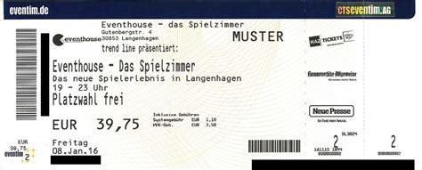 Tickets Online Drucken Eventim by Tickets F 252 R Das Eventhouse Vorverkaufsstellen Online
