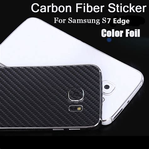 Sticker Carbon Transparan Samsung J710 yojock 3d carbon fiber back sticker cover wrap skin for samsung galaxy s7
