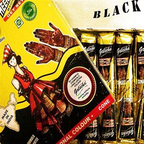 Golecha Henna Cone Vijeta Black Ecer 3 Pcs 6pcs Lot Golecha Black Indian Henna Paste Cone