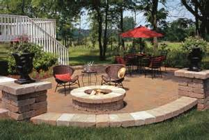Patios With Fire Pits by Outdoor Fire Pit Seating Ideas Quiet Corner