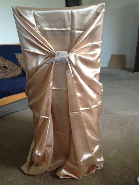 diy folding chair covers weddings chair covers and rhinestone mesh chair ties weddingbee
