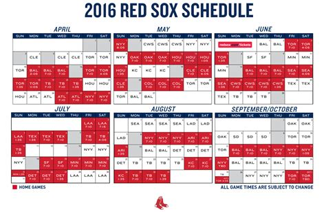 topic 2016 sox regular season schedule