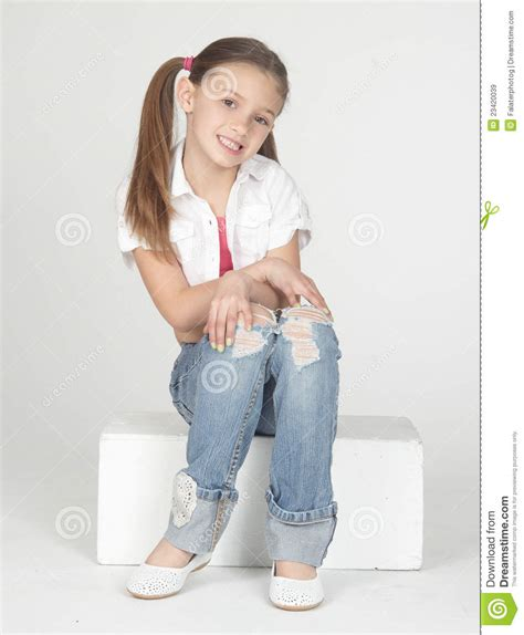 pre teenagers models pre teen girl modeling clothes stock image image 23420039