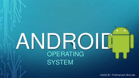 what operating system does android use android operating system