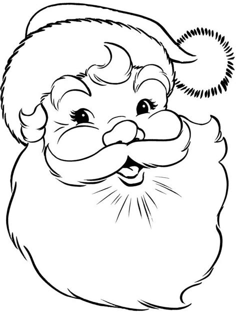 free santa claus face coloring pages