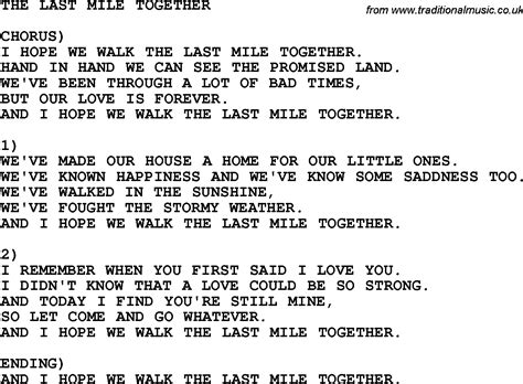 Last Mile Home Lyrics by Country Southern And Bluegrass Gospel Song The Last Mile
