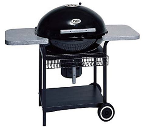 Patio Classic Grill by Patio Classic 6000 Black Charcoal Grill Qvc