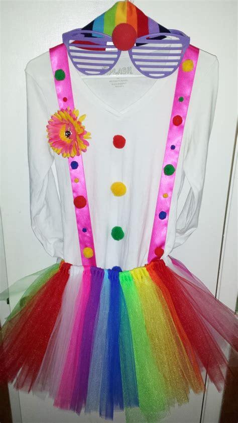simple diy homemade clown costume diy halloween