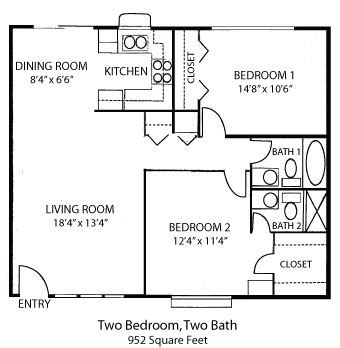 Small 2 Bedroom 2 Bath House Plans 25 Best Ideas About 2 Bedroom House Plans On 2 Bedroom Floor Plans Architectural