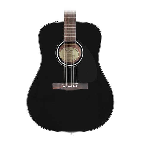Guitar Black fender cd60 acoustic dreadnought black guitar