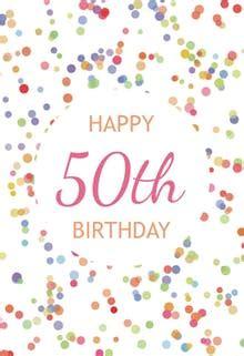 printable birthday cards no sign up free printable 50th birthday cards greetings island
