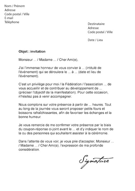 Lettre d'invitation Officielle - Modèle de Lettre