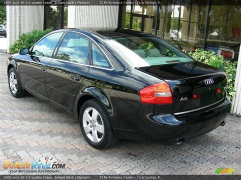 Audi A6 2003 by 2003 Audi A6 3 0 Quattro Sedan Brilliant Black Platinum