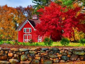 New Hampshire Barns Red Barn Forests Amp Nature Background Wallpapers On
