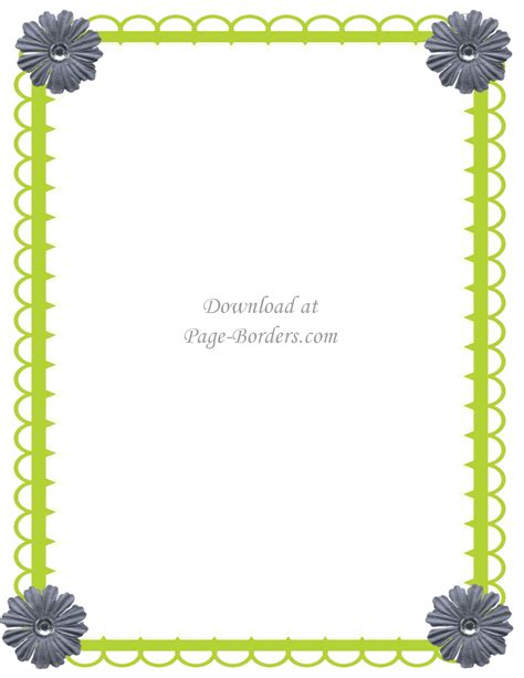 flower border template free flower border template