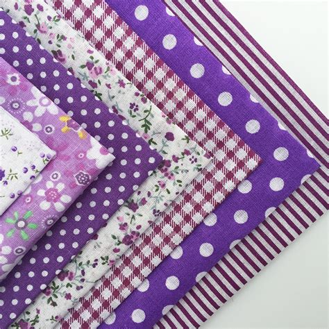 Patchwork Quilting Supplies - 55pcs cotton quilting patchwork floral pokadots checkered