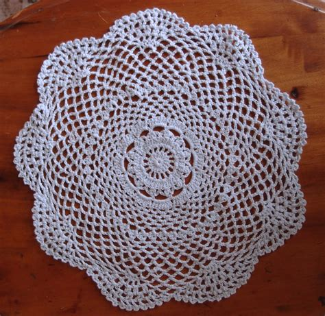 Handmade Doilies - 12 quot shaped handmade cotton crochet doilies white