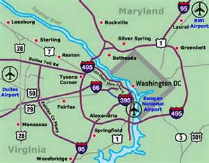 Washington Dulles Map by Dulles Airport Map