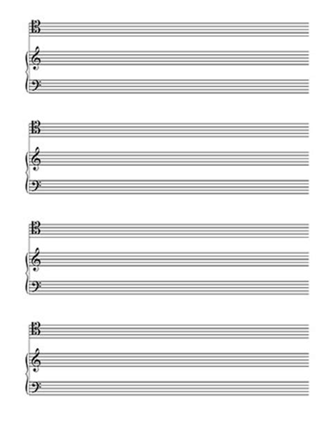 printable blank sheet music alto clef blankl sheet music piano and tenor clef