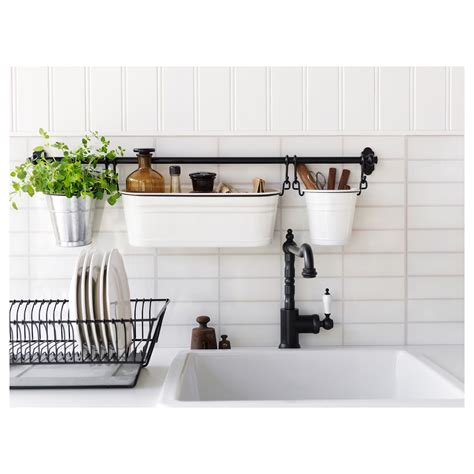 kitchens kitchen supplies ikea fintorp condiment stand white black 37x13 cm ikea