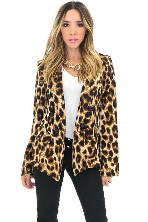 Cardigan Leopard Import Murah Chiffon Casual Lookbook jeri leopard blazer haute rebellious