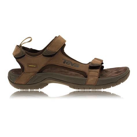 teva tanza leather sandals mens teva mens tanza brown leather spider original rubber