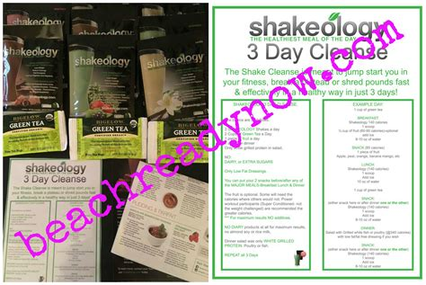 Shakeology Detox Weight Loss by 3 Day Shakeology Cleanse