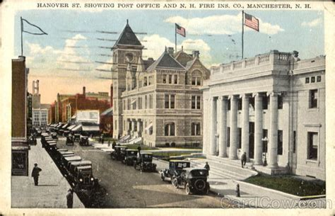 Hanover Post Office by Hanover St Showing Post Office And Nh Ins Co