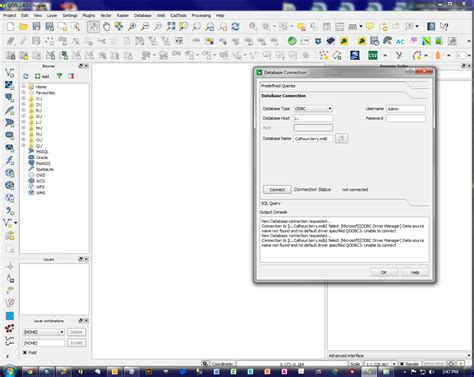 qgis tutorial database how to connect qgis with access database geographic