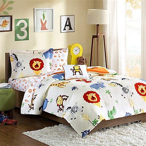 Safari Toddler Bedding Sets Mi Zone Safari Sam Comforter Set In Orange Bed Bath Beyond
