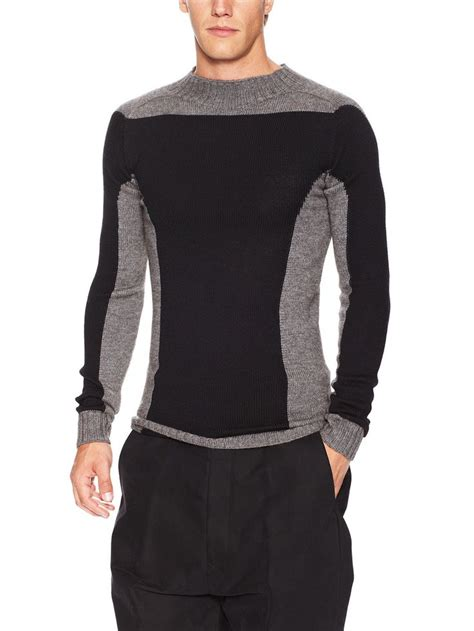 Owen Sweater level skeleton lupetto sweater by rick owens at gilt