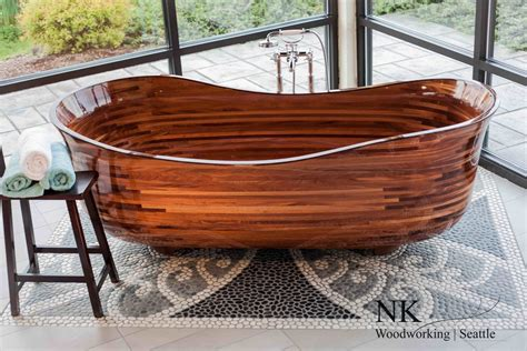 wood meets water in 6 gleaming handcrafted timber tubs