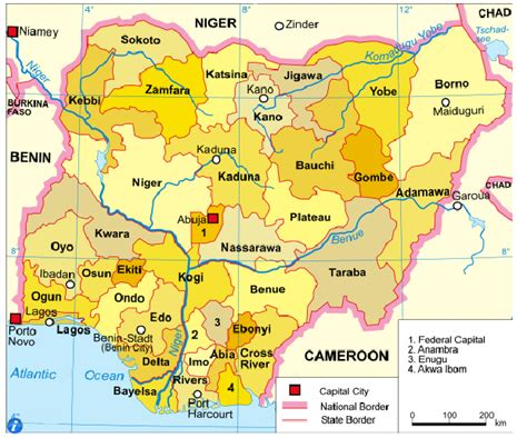 diagram of map of nigeria diagram of the political map of nigeria gallery how to