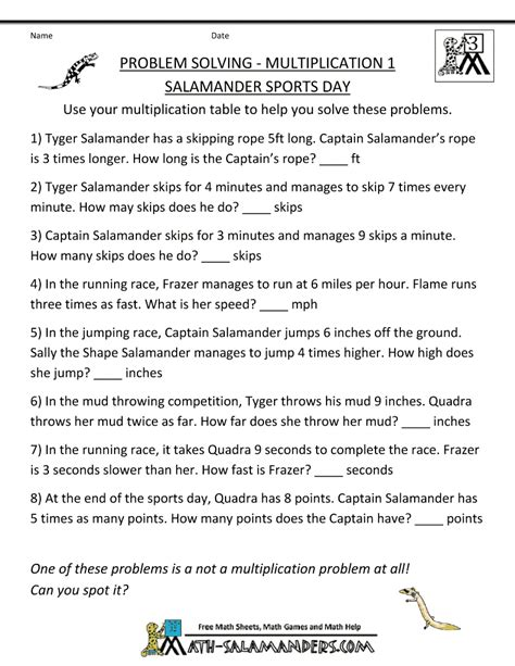 Multiplication Word Problems Worksheet by Problem Solving Multiplication Worksheets Popflyboys
