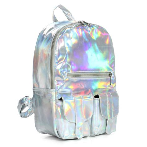 Tas Wanita Bag Size 25x18x12 Ootd Fashion New hologram laser schoolbag students harajuku preppy style backpack us 47 32
