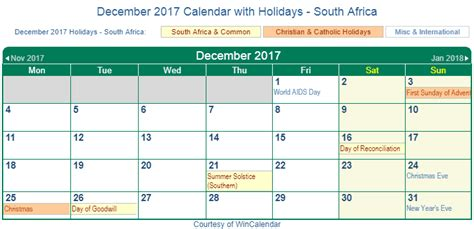 printable calendar 2017 south africa print friendly december 2017 south africa calendar for