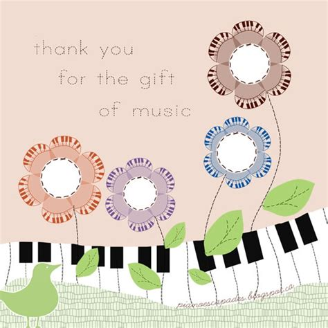 printable thank you card for music teacher 17 best images about printables on pinterest be my