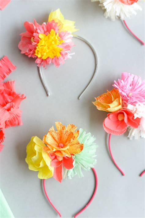How To Make Paper Headbands - paper flower headband diy