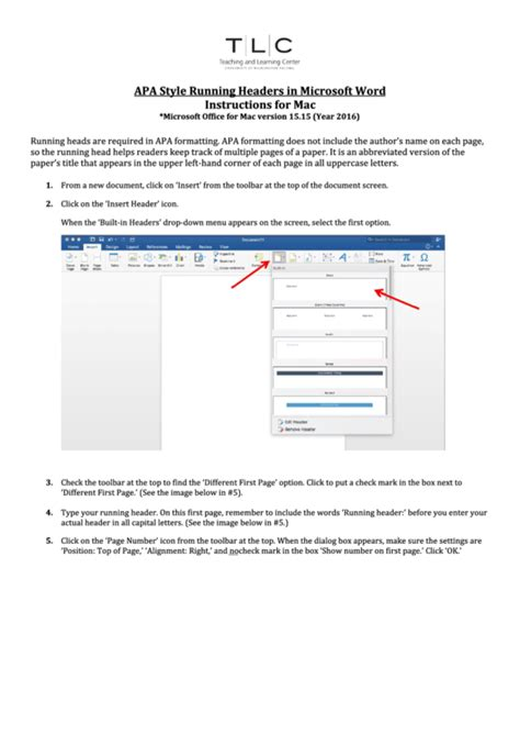 apa template microsoft word mac apa style running headers in microsoft word instructions
