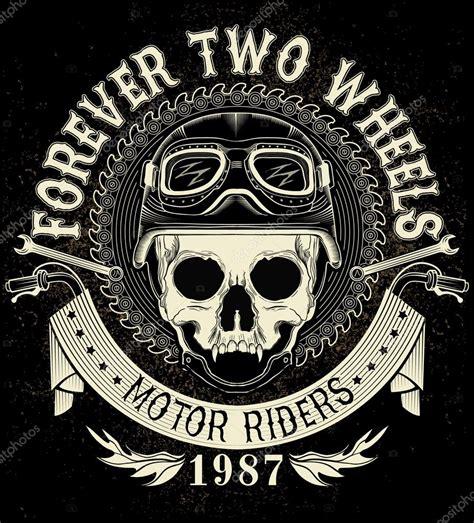 Vintage Biker vintage biker totenkopf emblem stockvektor 169 vecture