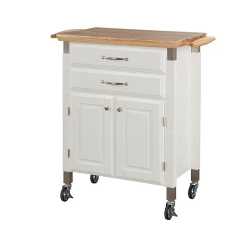 home styles dolly madison white kitchen cart the home