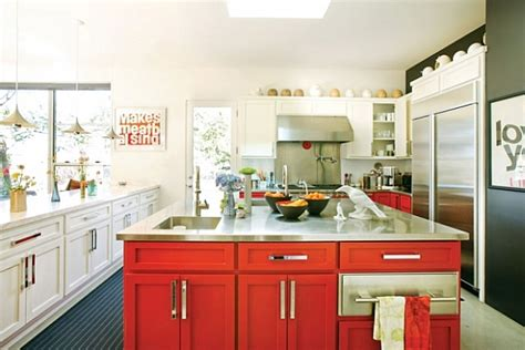 red and white kitchen design white and red kitchen design for art lovers