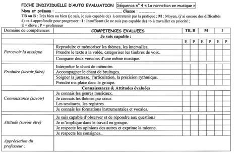 Grille D évaluation Autisme by 6e Musique Narrative L Apprenti Sorcier Paul Dukas