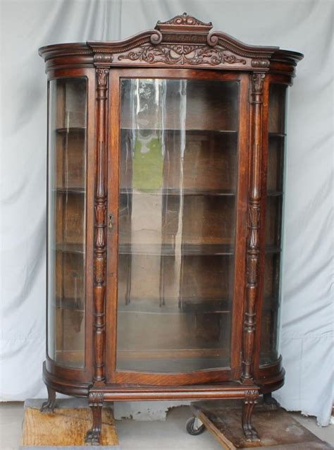 curved glass curio cabinet curved glass curio cabinet for sale classifieds