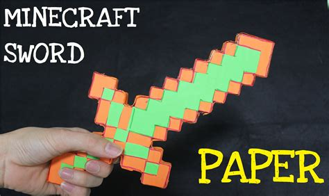 How To Make A Paper Minecraft Sword - how to make a paper minecraft sword in real mine