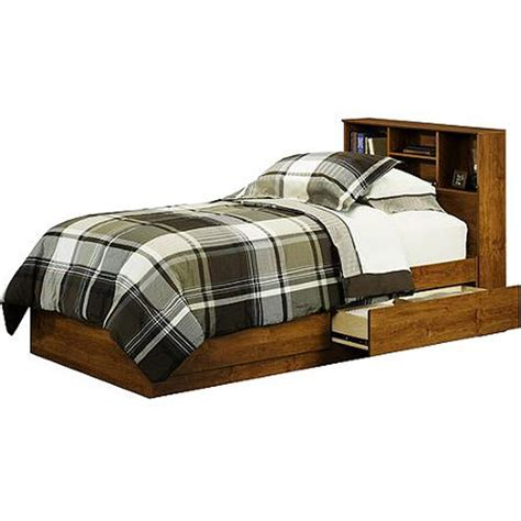twin bed storage headboard twin bed with storage drawers dorm teens wood alder