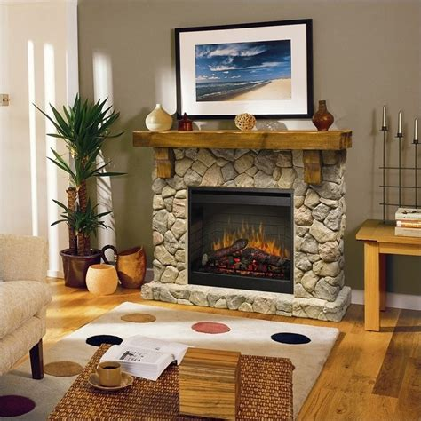 free standing fireplaces dimplex electraflame fieldstone free