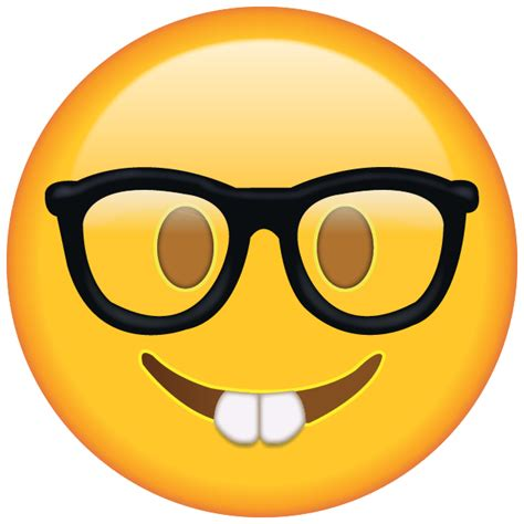 nerd emoji  png emojis emoji island